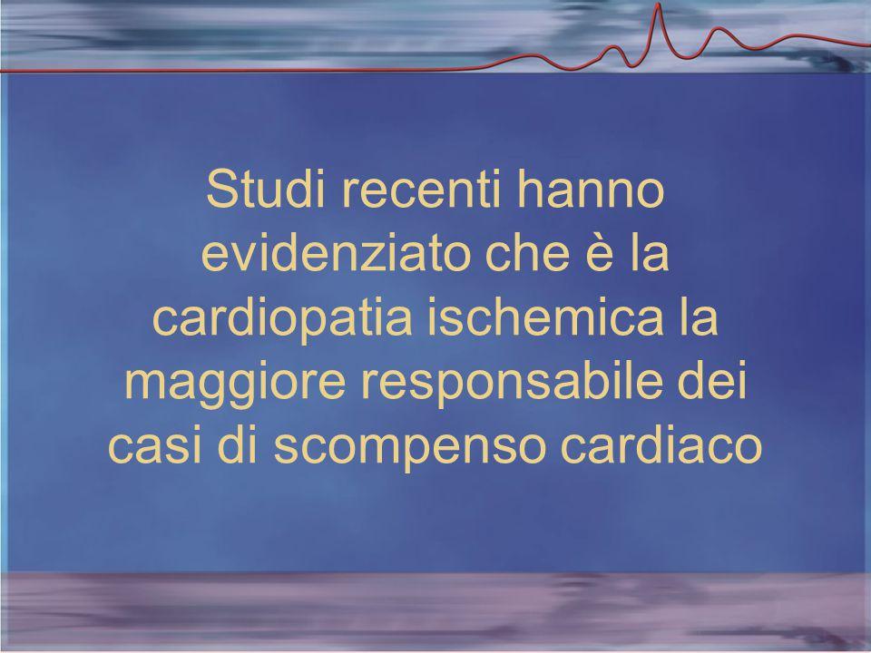 Studi recenti hanno evidenziato che è la cardiopatia ischemica la maggiore responsabile dei casi di scompenso cardiaco