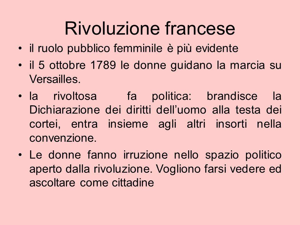 Donne nella rivoluzione La richiesta di essere elette ed eleggibili viene esplicitamente posta dalle rivoluzionarie e dai loro clubs.