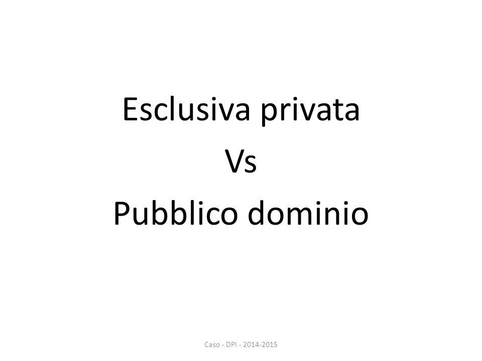 Esclusiva privata Vs Pubblico dominio Caso - DPI - 2014-2015