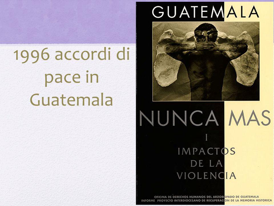 1996 accordi di pace in Guatemala