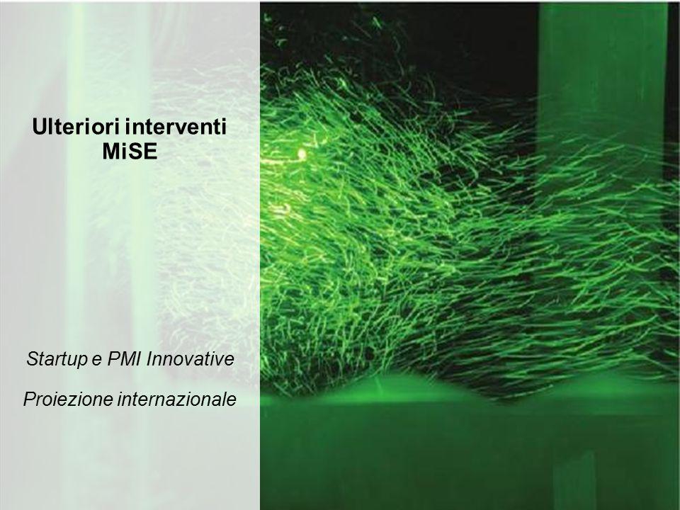 Startup e PMI Innovative Proiezione internazionale Ulteriori interventi MiSE 11