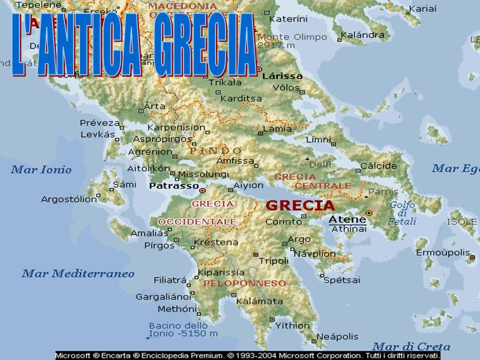 I Greci vissero nel 5° secolo a.C sulle isole del mar Egeo,nelle colonie,sulle sponde del mar Nero,sulle coste dell' Asia Minore,nel Peloponneso e nell' Italia meridionale.