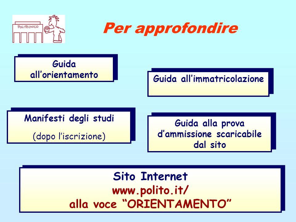 Guida all'orientamento Per approfondire Guida all'immatricolazione Manifesti degli studi (dopo l'iscrizione)  Manifesti degli studi (dopo l'iscrizion