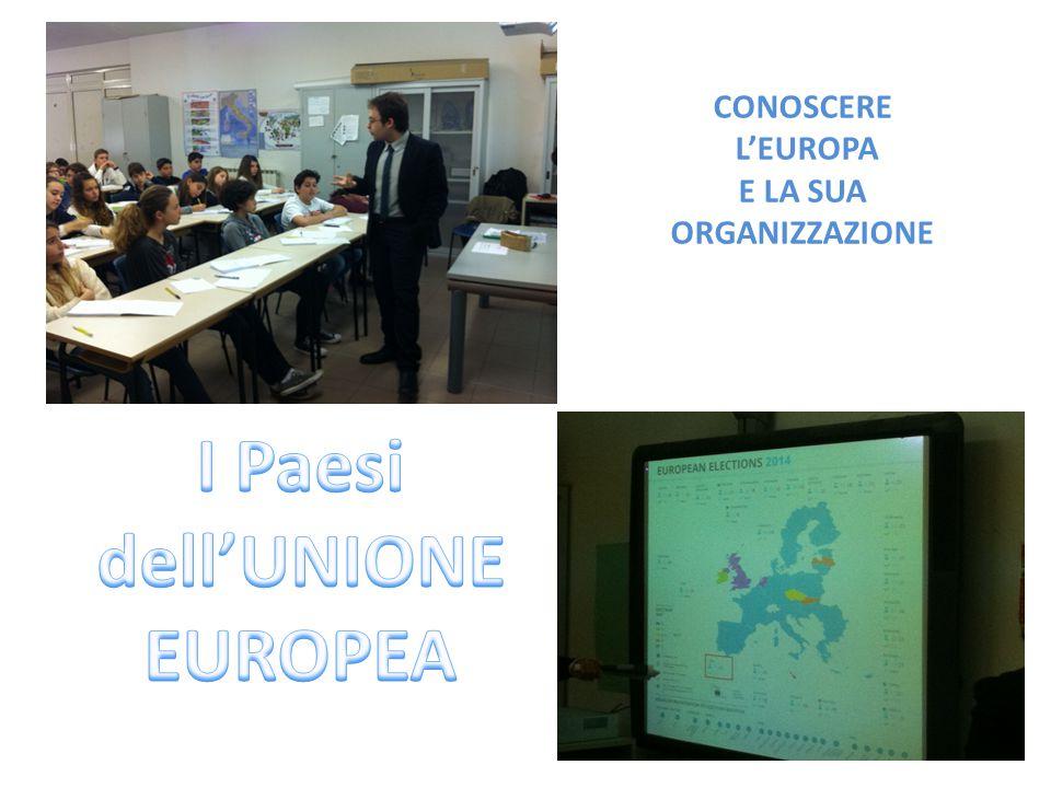 CONOSCERE L'EUROPA E LA SUA ORGANIZZAZIONE
