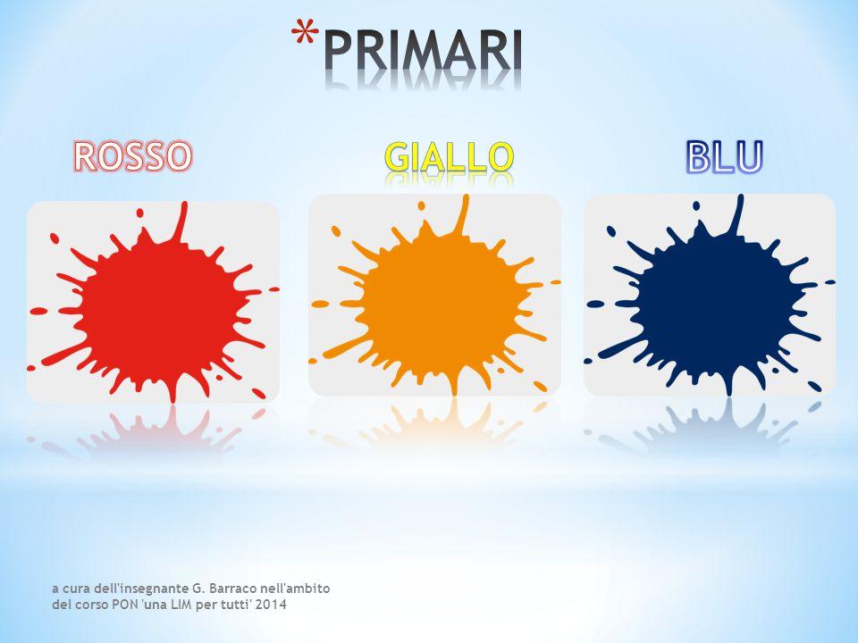 Il giallo, il rosso e il blu sono i colori primari.