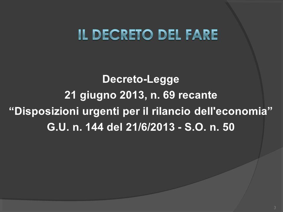 3 Decreto-Legge 21 giugno 2013, n.