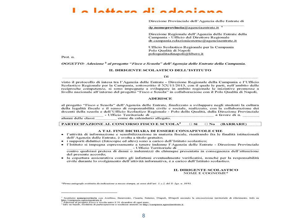 8 La lettera di adesione