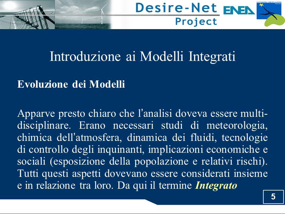 5 Introduzione ai Modelli Integrati Evoluzione dei Modelli Apparve presto chiaro che l ' analisi doveva essere multi- disciplinare. Erano necessari st