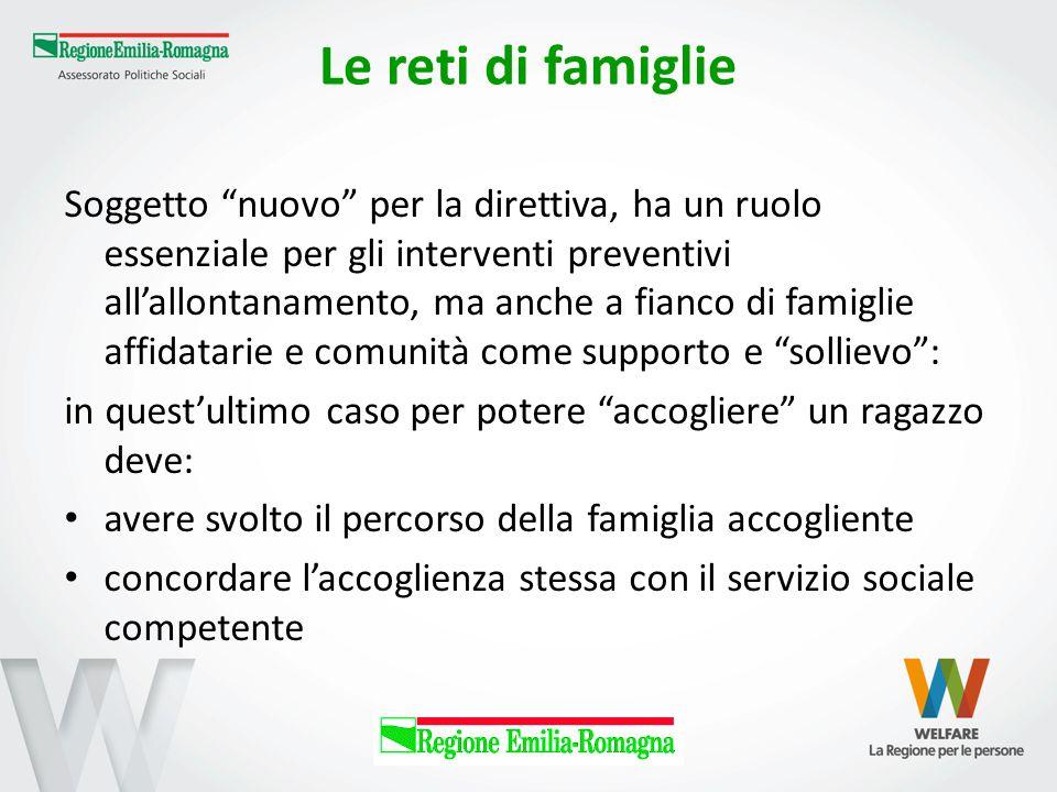 """Le reti di famiglie Soggetto """"nuovo"""" per la direttiva, ha un ruolo essenziale per gli interventi preventivi all'allontanamento, ma anche a fianco di f"""