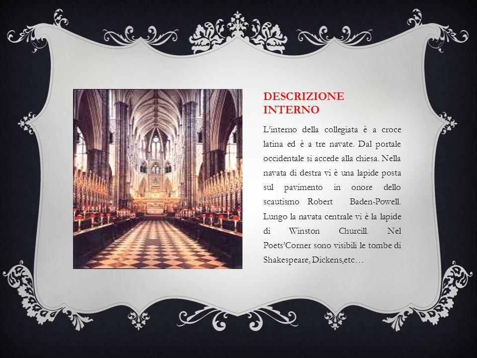 DESCRIZIONE INTERNO L'interno della collegiata è a croce latina ed è a tre navate. Dal portale occidentale si accede alla chiesa. Nella navata di dest