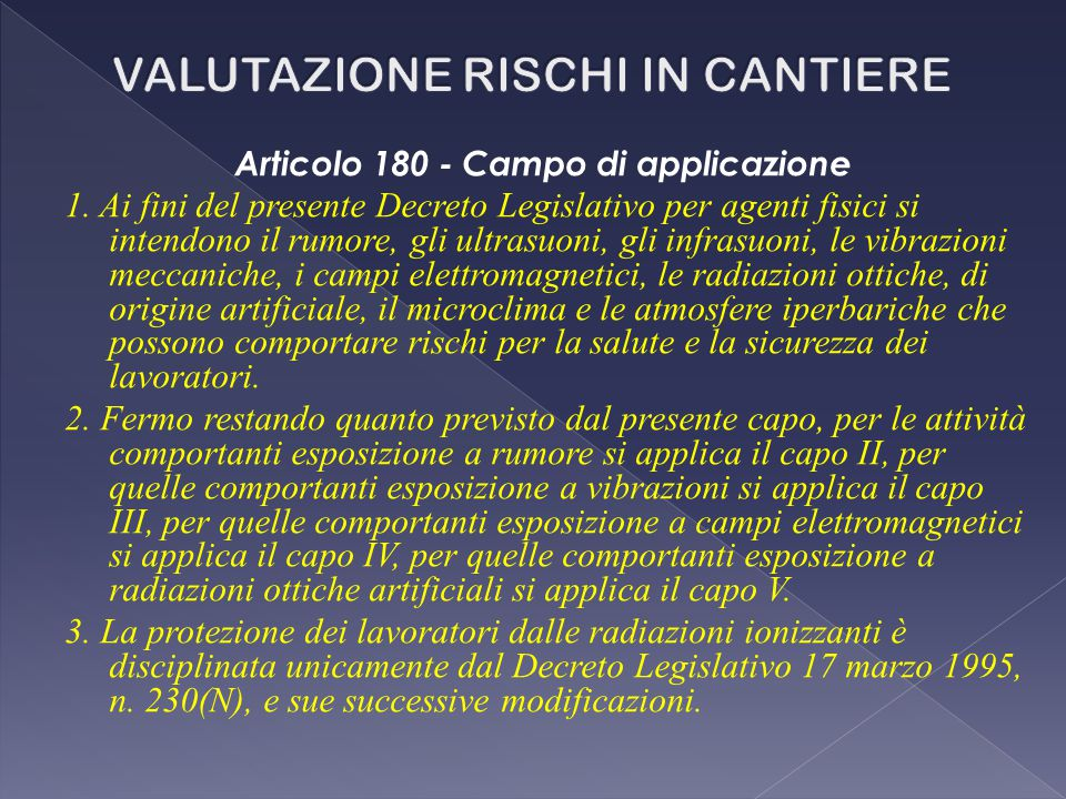 Articolo 180 - Campo di applicazione 1.