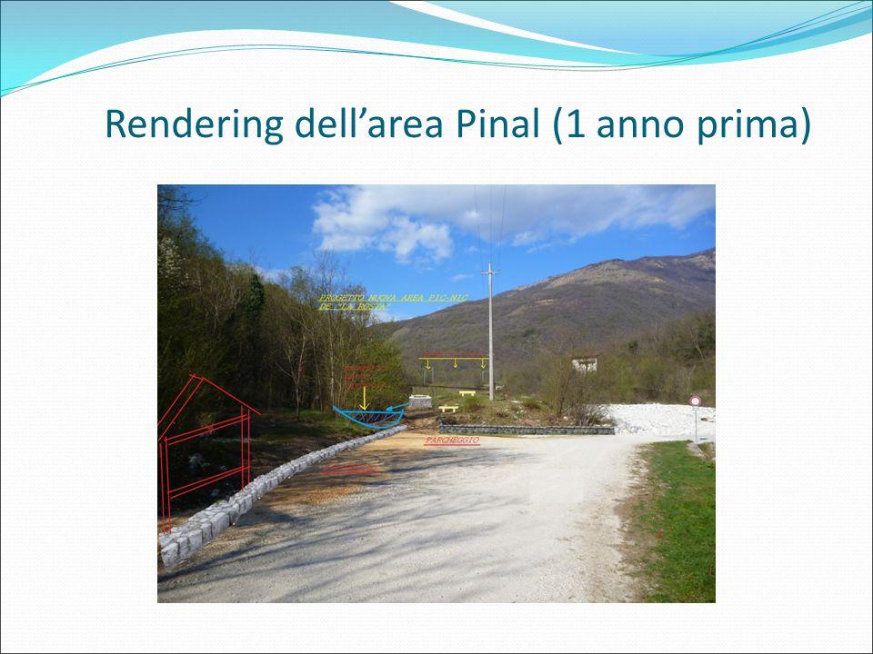 Rendering dell'area Pinal (1 anno prima)