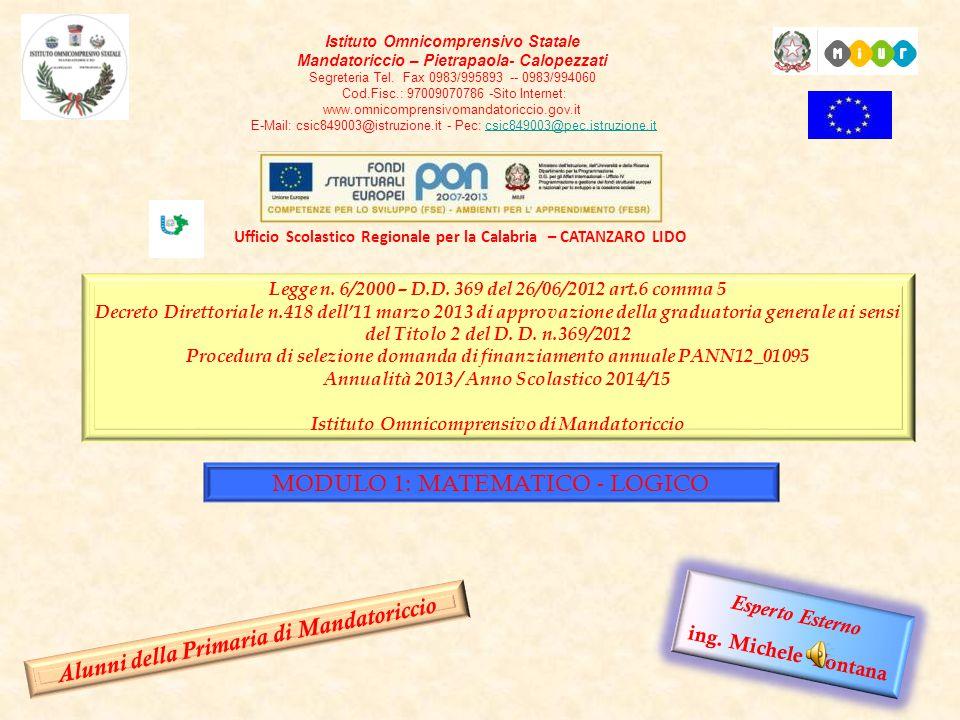 2 Legge n. 6/2000 – D.D. 369 del 26/06/2012 art.6 comma 5 Decreto Direttoriale n.418 dell'11 marzo 2013 di approvazione della graduatoria generale ai