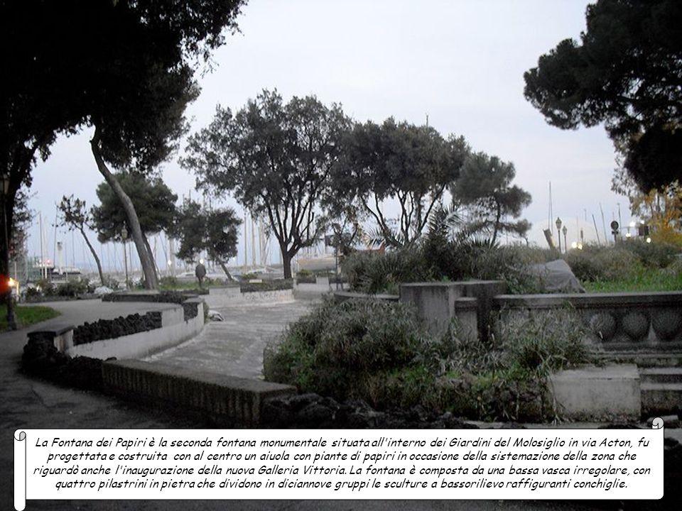 La fontana dei Leoni è una delle fontane storiche di Napoli; è sita nei Giardini del Molosiglio, Ha cambiato molte volte destinazione: dapprima era in