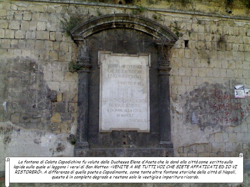 Cortile delle Carrozze (Palazzo Reale), fontana del Cortile delle Carrozze La fontana del Capone voluta dal viceré Don Pedro de Toledo, è posta in via