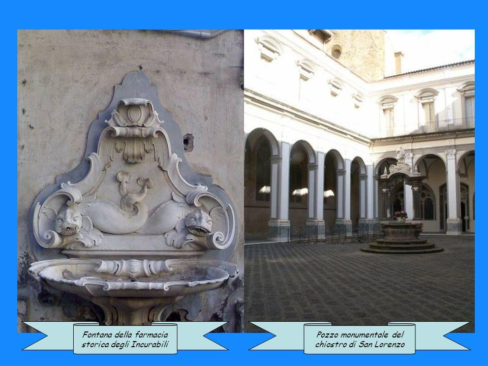 Fontana di un palazzo storico in Piazza Cavour