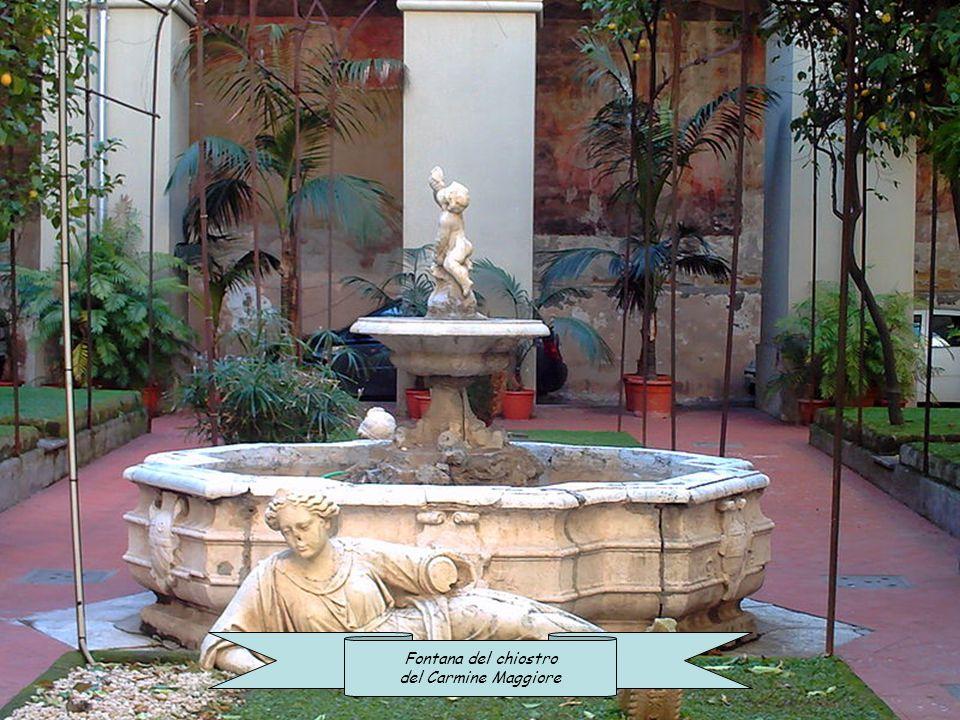 Fontana della farmacia storica degli Incurabili Pozzo monumentale del chiostro di San Lorenzo
