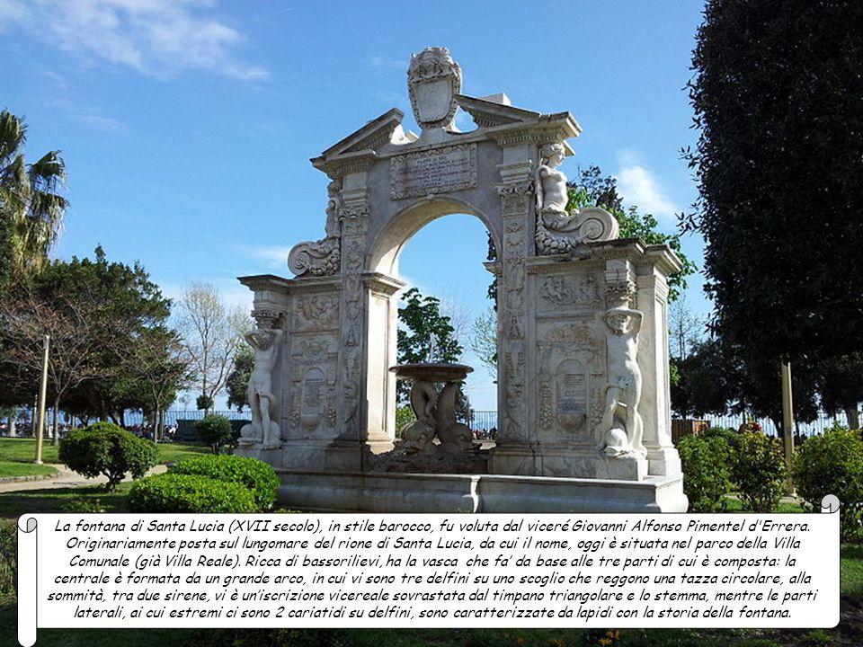 La fontana del Sebeto (XVII secolo) voluta dal viceré Emanuele Zunica e Fonseca conte di Monterey era in via Gusmana (oggi via Cesario Console), poi s