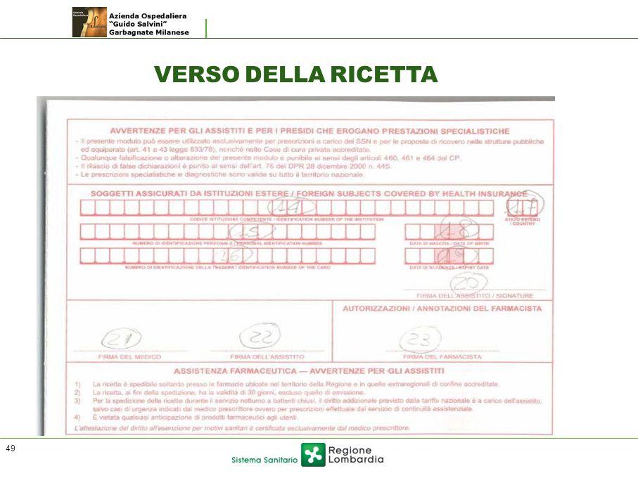 VERSO DELLA RICETTA 49