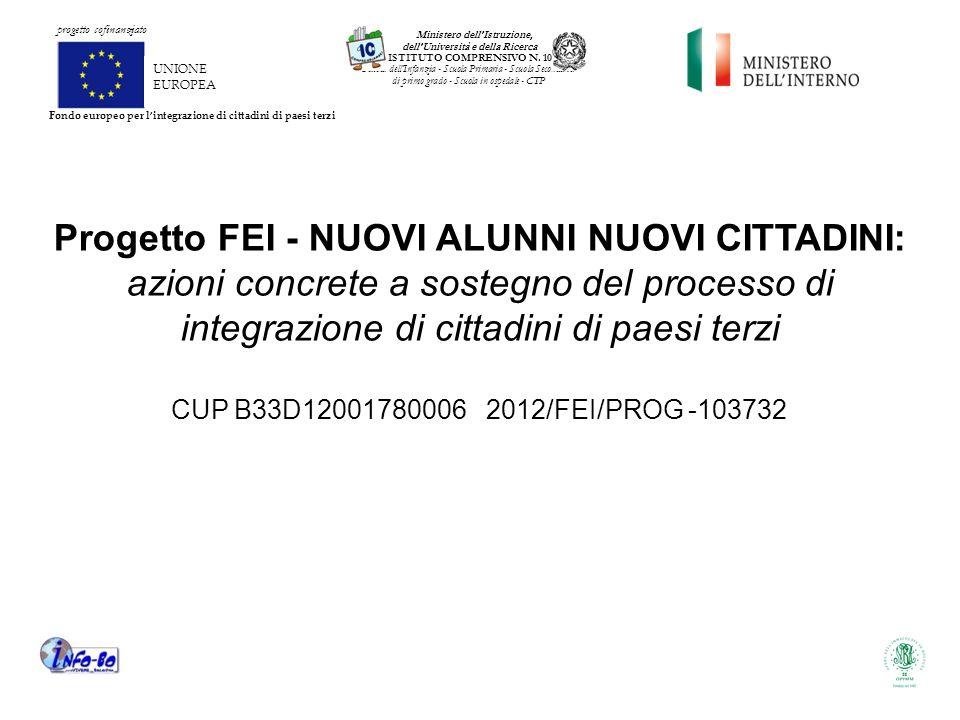 UNIONE EUROPEA Ministero dell'Istruzione, dell'Università e della Ricerca ISTITUTO COMPRENSIVO N.