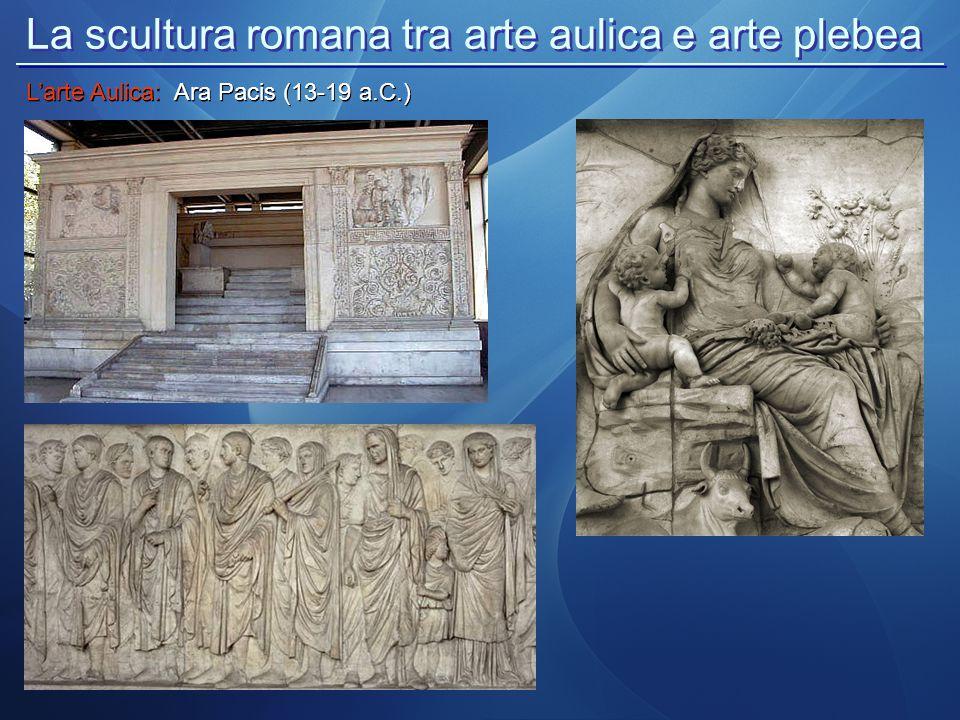La scultura romana tra arte aulica e arte plebea L'arte Aulica: Ara Pacis (13-19 a.C.)