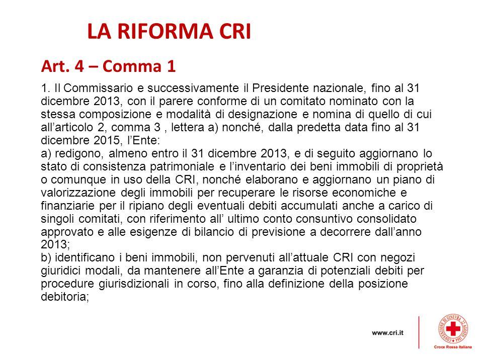 LA RIFORMA CRI 1.