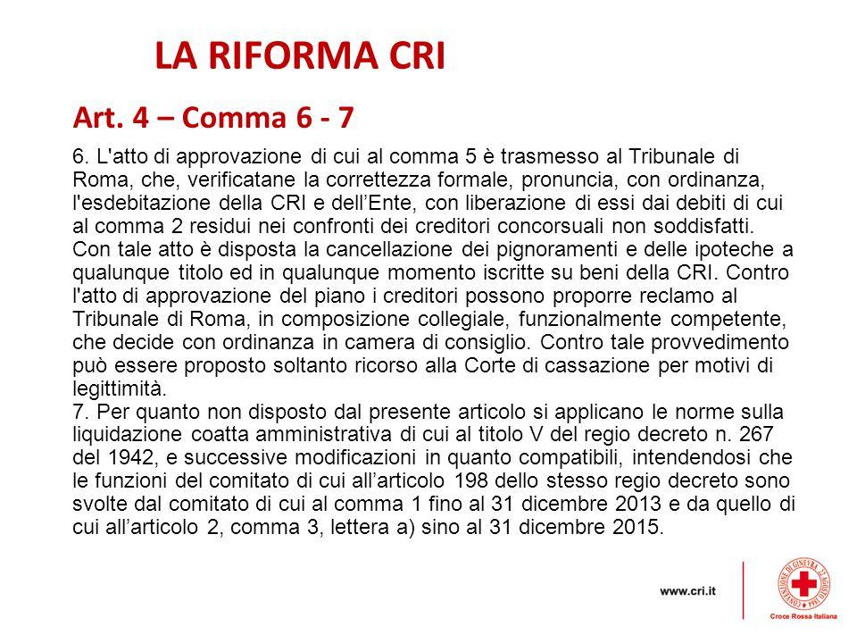 LA RIFORMA CRI 6.