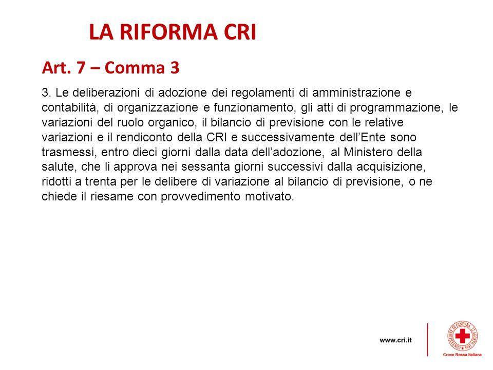 LA RIFORMA CRI 3.