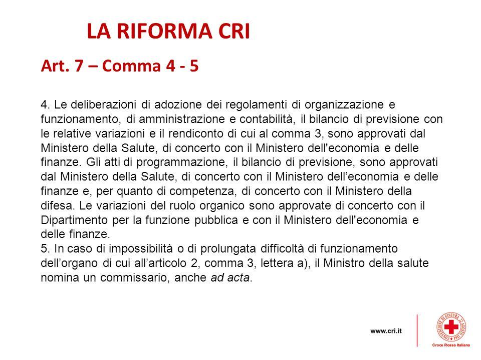 LA RIFORMA CRI 4.