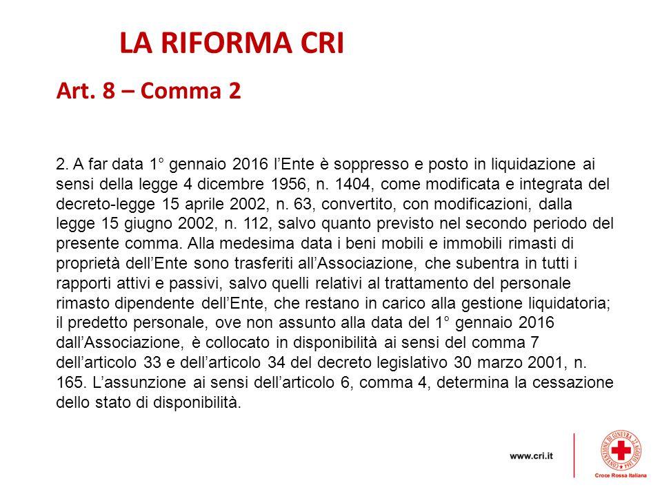 LA RIFORMA CRI 2.