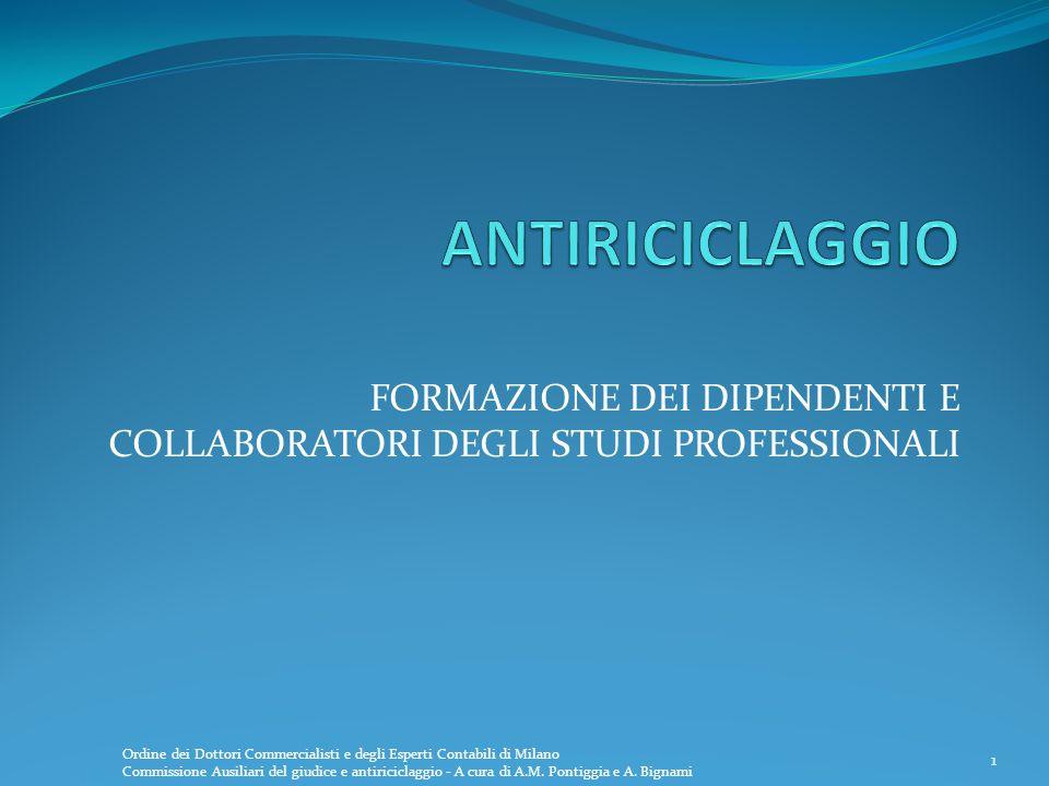 1 FORMAZIONE DEI DIPENDENTI E COLLABORATORI DEGLI STUDI PROFESSIONALI 1 Ordine dei Dottori Commercialisti e degli Esperti Contabili di Milano Commissi