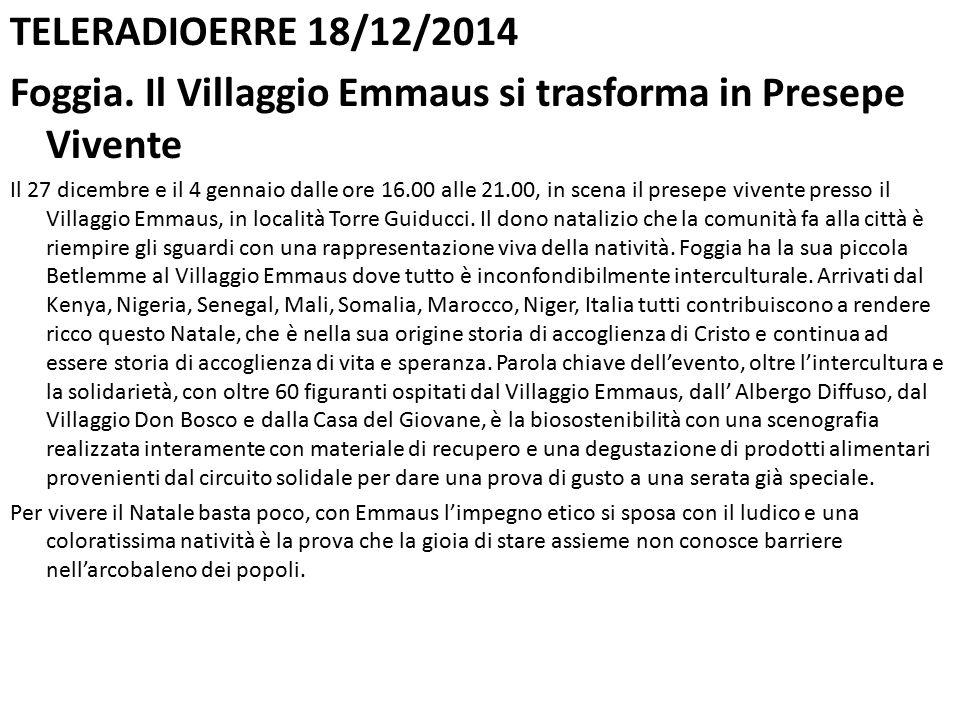 TELERADIOERRE 18/12/2014 Foggia.