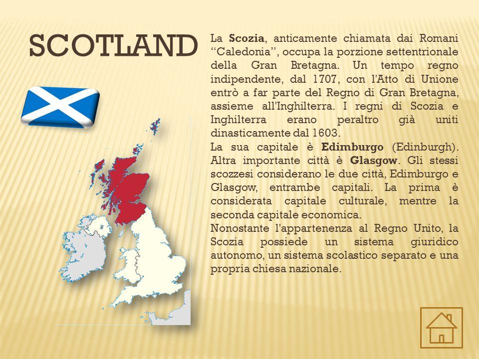 """SCOTLAND La Scozia, anticamente chiamata dai Romani """"Caledonia"""", occupa la porzione settentrionale della Gran Bretagna. Un tempo regno indipendente, d"""