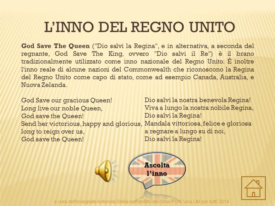 L'INNO DEL REGNO UNITO God Save The Queen (