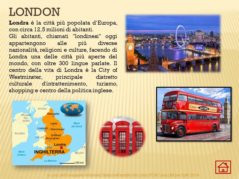Londra è la città più popolata d'Europa, con circa 12,5 milioni di abitanti. Gli abitanti, chiamati