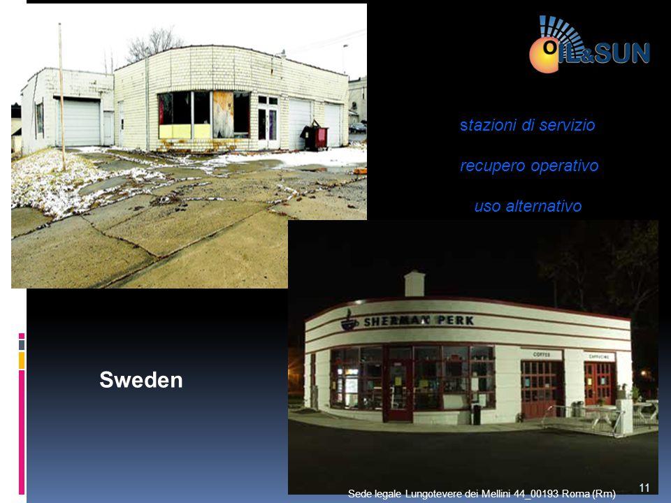 Sweden stazioni di servizio recupero operativo uso alternativo 11 Sede legale Lungotevere dei Mellini 44_00193 Roma (Rm)