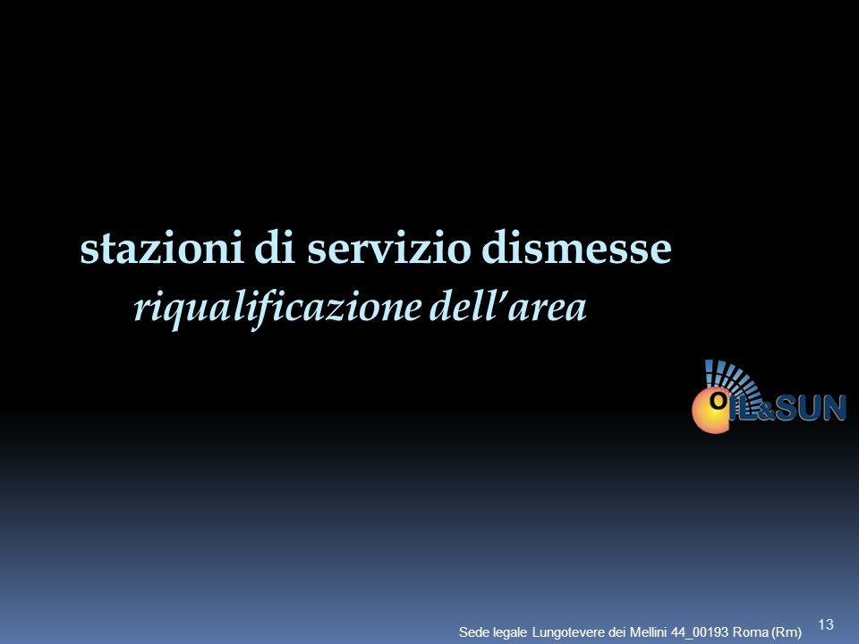 stazioni di servizio dismesse riqualificazione dell'area 13 Sede legale Lungotevere dei Mellini 44_00193 Roma (Rm)
