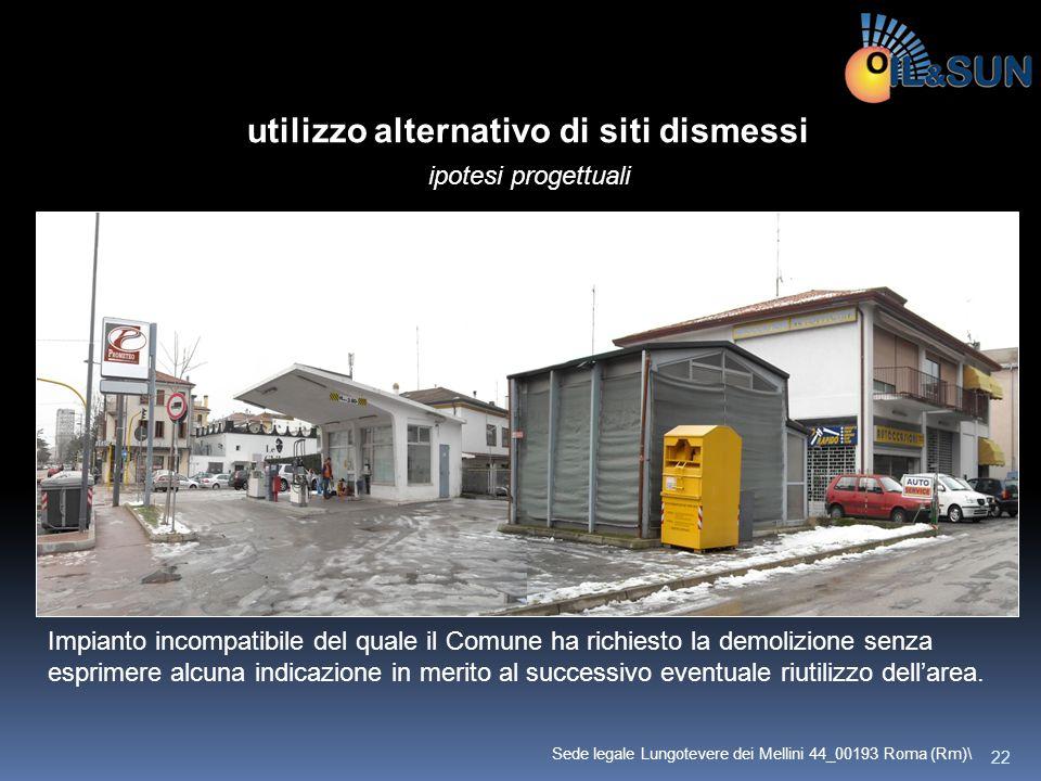 Motivazioni che possono portare alla chiusura di un punto vendita carburanti: utilizzo alternativo di siti dismessi ipotesi progettuali Impianto incom