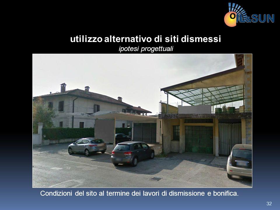 Condizioni del sito al termine dei lavori di dismissione e bonifica. utilizzo alternativo di siti dismessi ipotesi progettuali 32