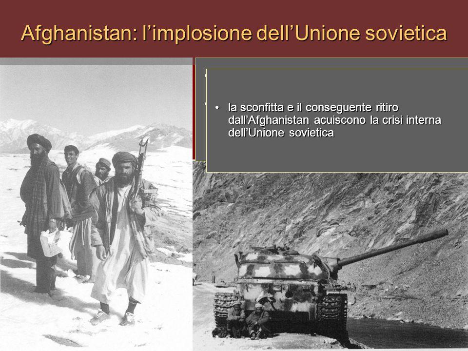 1979: l'Urss interviene in Afghanistan in sostegno del regime comunista ivi insediato1979: l'Urss interviene in Afghanistan in sostegno del regime com
