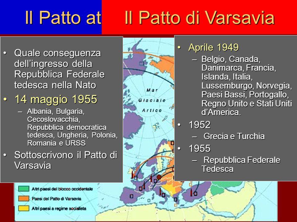 L'Europa divisa Le contrapposizioni –ideologica liberalismoliberalismo socialismosocialismo –economica libero mercatolibero mercato economia pianificataeconomia pianificata –politica: democrazie liberaldemocratiche e socialdemocratichedemocrazie liberaldemocratiche e socialdemocratiche democrazie popolari a partito unico democrazie popolari a partito unico –militare: Nato (1949)Nato (1949) Patto di Varsavia (1955)Patto di Varsavia (1955) La divisione dell'Europa è uno dei nodi strategici della politica di contenimento del comunismo a livello mondiale Cortina di ferro