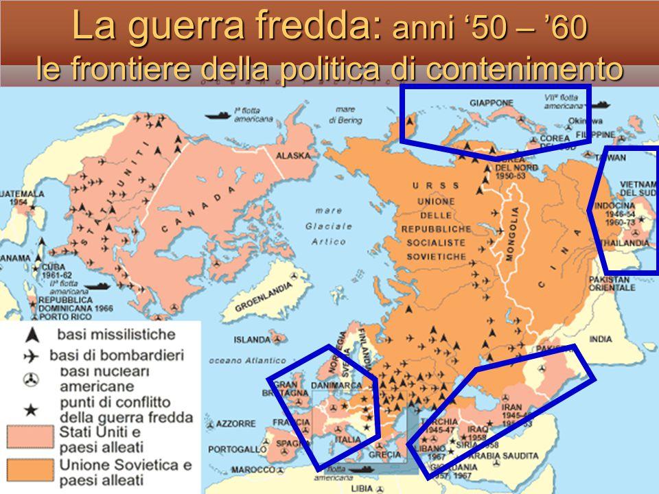 La guerra fredda : le aree di conflitto Europa Medio oriente CoreaIndocina Centro America