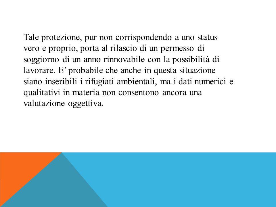 Il fenomeno delle migrazioni ambientali, però, riguarderà anche la penisola italiana non solo come paese di destinazione per l'afflusso di profughi ma anche come probabile luogo di partenza.