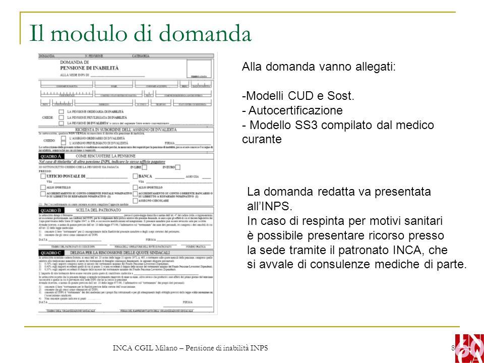INCA CGIL Milano – Pensione di inabilità INPS 9 La pensione di vecchiaia anticipata per invalidi e per non vedenti Per i lavoratori dipendenti invalidi in misura non inferiore all'80% l'età per la pensione di vecchiaia resta ancora stabilita a 55 anni, se donne, e a 60 se uomini; il riconoscimento deve avvenire da parte dell'Inps e l'eventuale accertamento già effettuato da altro ente (ad esempio dall'ASL) serve solo come elemento di valutazione per l'espressione del giudizio medico-legale degli uffici sanitari dell'Inps.