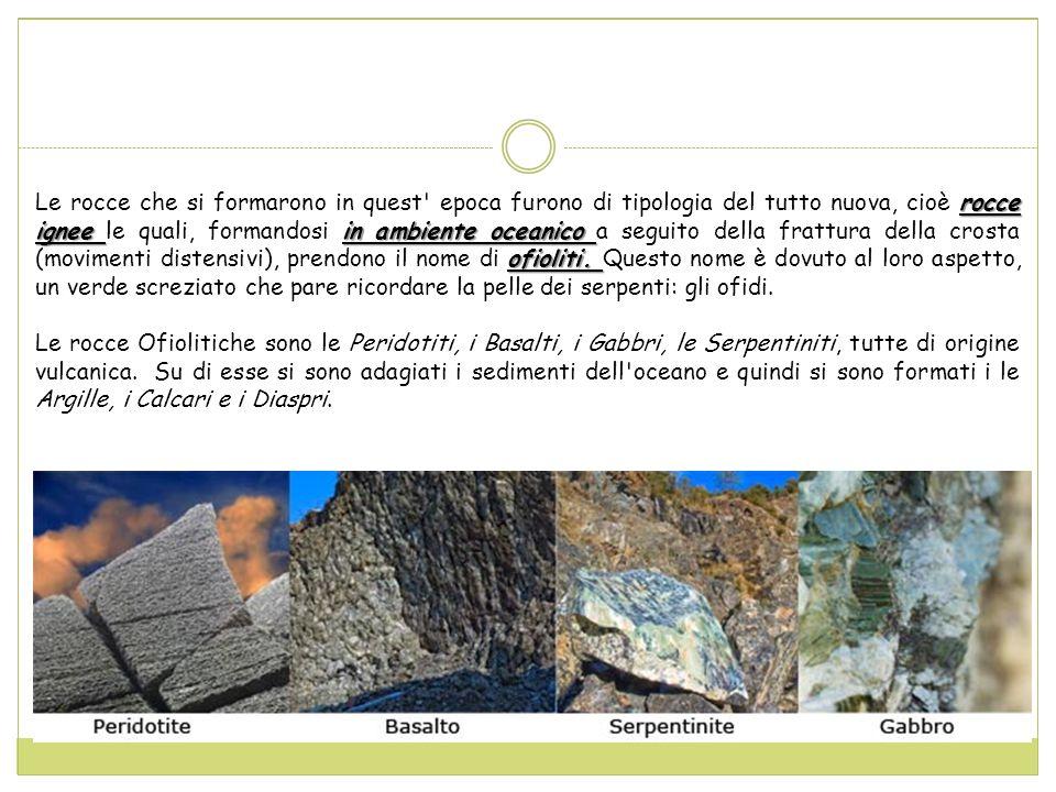 rocce ignee in ambiente oceanico ofioliti.
