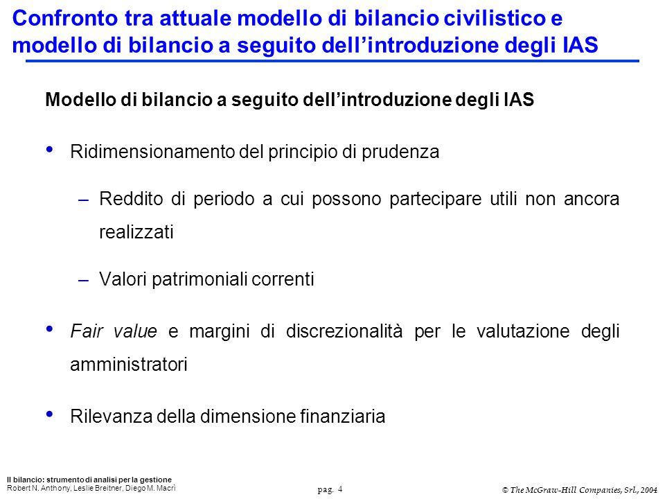 pag. 4 Il bilancio: strumento di analisi per la gestione Robert N.