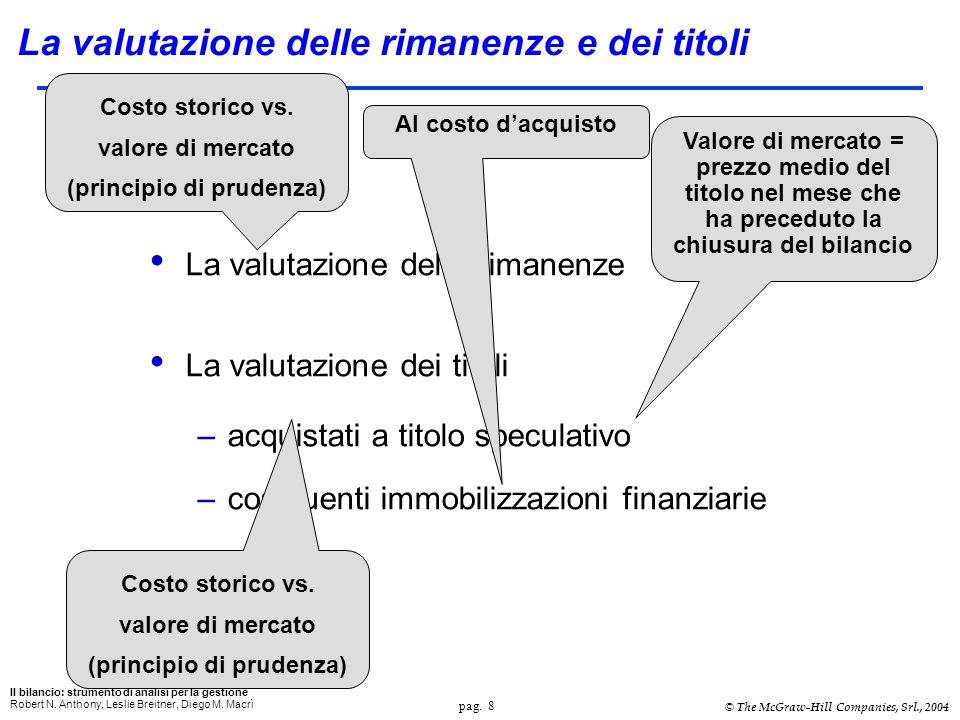 pag. 8 Il bilancio: strumento di analisi per la gestione Robert N.