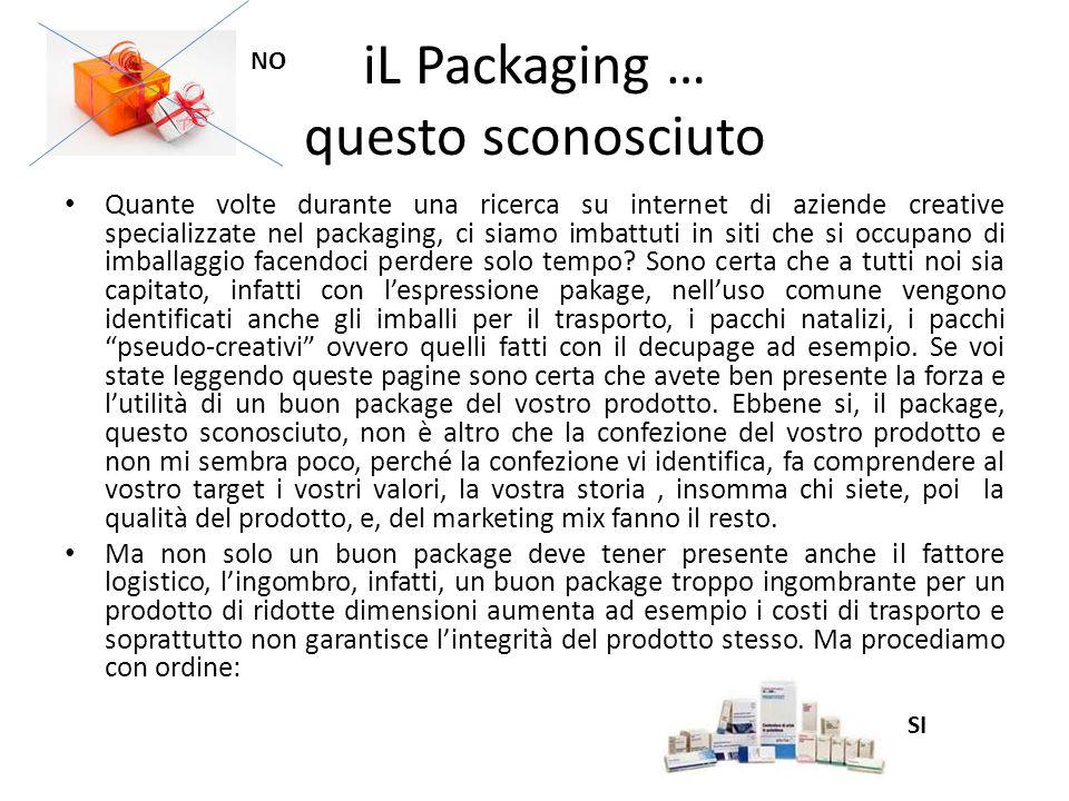 iL Packaging … questo sconosciuto Quante volte durante una ricerca su internet di aziende creative specializzate nel packaging, ci siamo imbattuti in siti che si occupano di imballaggio facendoci perdere solo tempo.
