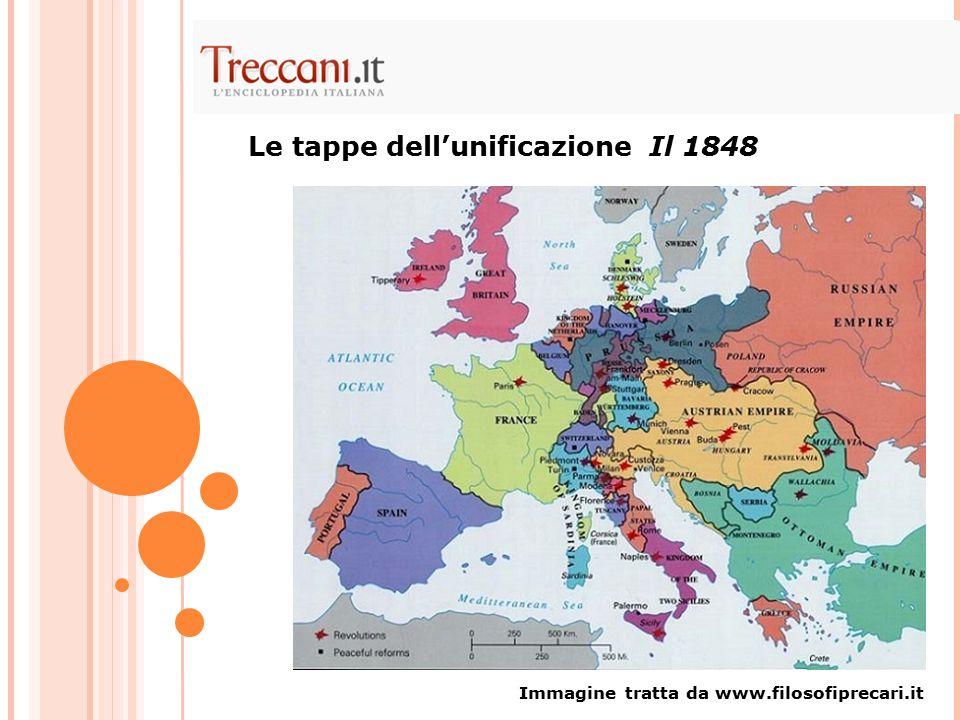 Immagine tratta da www.filosofiprecari.it Le tappe dell'unificazione Il 1848
