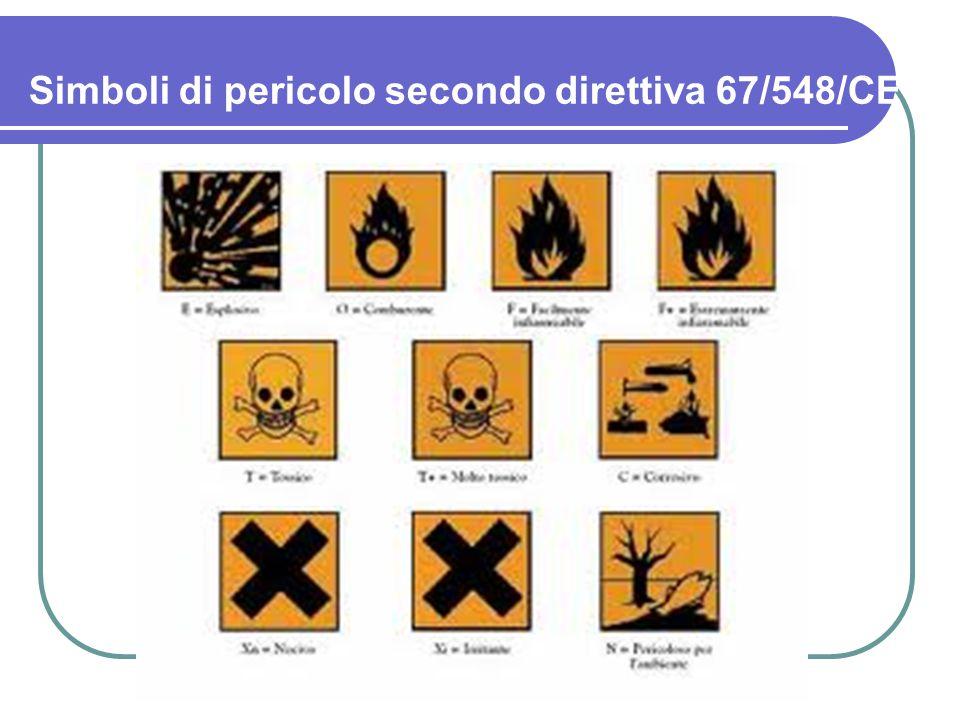 2.le sostanze che possono diventare pericolose durante l'uso, il cui pericolo rientra in una delle 15 categorie sopra definite, ma che non hanno un pittogramma che identifica la categoria di pericolo, ma hanno solo una frase di rischio e consigli di prudenza.